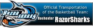 Official Transportation of the Rochester RAZORSHARKS